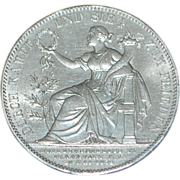 German Bavaria Thaler Silver Coin - 1871 - Uncirculated