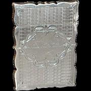 American Gorham Sterling Silver Card Case - 1869