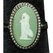 English Wedgwood Sterling Silver Ring - 1974