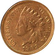 United States One Cent Indian Head Copper Coin - 1903 - Mint