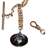 Late Victorian Gents' Gold Fill and Gold Watch Chain