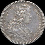 French Louis XV Silver Jeton Coin, c. 1730