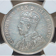 South Africa Two Shilling  Florin Silver Coin - 1923 - PF-61 -NGC - Slabbed