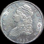 United States Silver Half Dollar Coin - 1834
