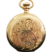 American Waltham Lady's 14K  Gold Hunting Case Watch - 1897