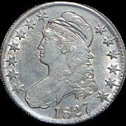 United States Silver Liberty Half Dollar - 1827 - AU55