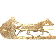 14K Rose Gold Sulky Racing Pin - 1905