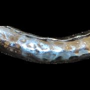 Heavy Hand Hammered Sterling Silver Bangle Bracelet - 1980's