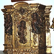 SOLD Italian Gilt Reliquary
