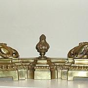 Superb French Bronze Fireguards