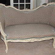 Lovely French Louis XV Style Polychromed Settee