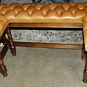 English Leather Bench
