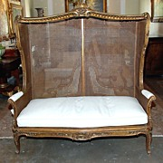 Gracious Louis XV Style Canopy Settee