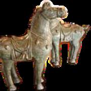 Pair of Bronze Tang Horses