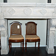 SOLD Impressive French Limestone Mantle