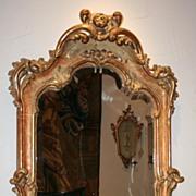 18th Century Swedish Rococo Mirror