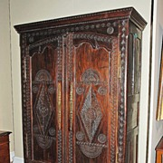 Handsomely Carved Breton Carved Armoire