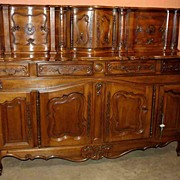 Louis XV Style Carved Walnut Glissant