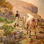 Oil on Canvas, Clovis Frédéric Terraire
