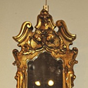 Pair of French Gilt Mirrors with Candleholders