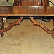 Handsome Florentine Walnut Table