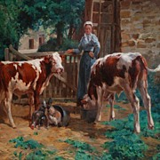 Fantastic Oil on Canvas, Levavasseur