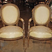 Pair of 19th Century Louis XVI Arm Chairs