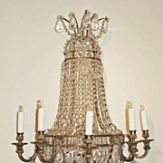 Gorgeous Pair of French Crystal Sconces
