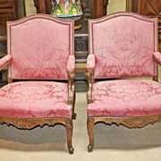 Pair of French Carved Armchairs