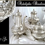 SOLD A. Boulenger ; Antique French Sterling Silver Tea, Coffee set -  2743 gr.