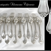 SOLD Antique French French Sterling Silver Flatware Set for 6 p. Noeud Gordien Pattern