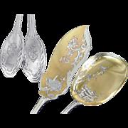 SOLD Louis Coignet - Antique French Sterling Silver Ice Cream Serving Set (2pc.)Louis XVI Patt