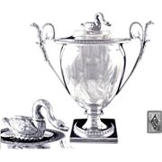 SOLD Antique French Sterling Silver Sugared Almonds Pot or Sugar Bowl. Empire Era