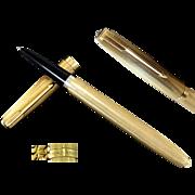 PARKER Fountain Pen Gold 18k Grain d'Orge Eagle's Head 750