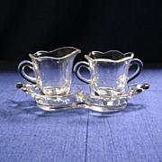 Duncan & Miller Canterbury #115 Individual Cream/Sugar/Tray