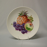 Porcelain Pineapple and Fruit Pattern Salad Plate Puls Germany