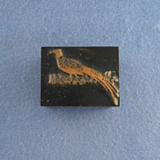 Vintage Letterpress Printers Block - Cock Pheasant