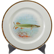 O.P.CO. Syracuse Onondaga China Pike Fish Plate