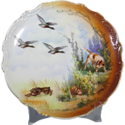 Leuchtenburg Hunting Scene Plate - Dog, Ducks, Rabbits