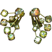 Weiss Elegant A/B Rhinestone Clip Earrings