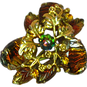 Art Glass Specialty Stone & Margarita Rivoli Pin Brooch