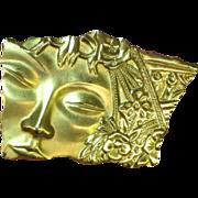 SALE 50% OFF SALE J.J. Sleeping Beauty Gorgeous Face Brooch Pin