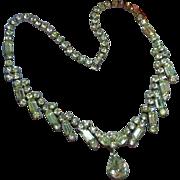 Kramer Diamond Look Rhinestones Estate Necklace