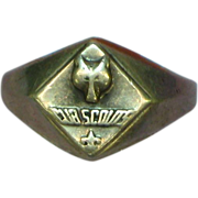 SALE 50% OFF SALE Boy Scouts Vintage 1950's Cub Scouts of America Sterling Silver Ring