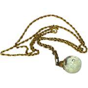 Floating Opals Mesmerizing Gold Filled Marked Chain Pendant Necklace