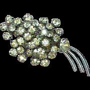 SALE 50% OFF SALE Rhinestones Dazzling Dynomite Clear A/B Colorful Brooch