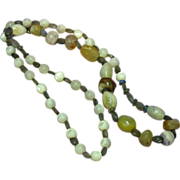 """Labradorite  Mother of Pearl Agate One of a Kind 26"""" Necklace"""