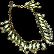 White Milk Class Fringe Choker Necklace