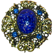 50% OFF SALE  Austria Rhinestones, Art Glass, High Quality Pin, Brooch Pendant