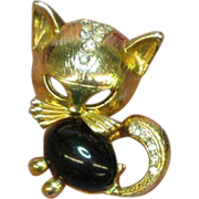 Craft Marked Jelly Belly Kitty Cat Estate Pin Brooch